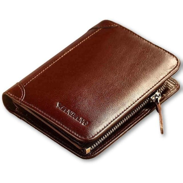 Genuine Leather Zipper Wallet - Novel Luxury - A men's accessory company