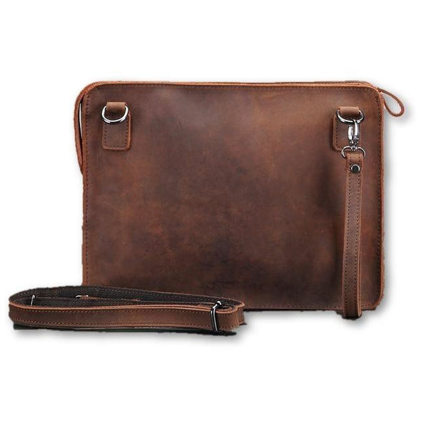 Genuine Leather Shoulder Satchel - Novel Luxury - A men's accessory company