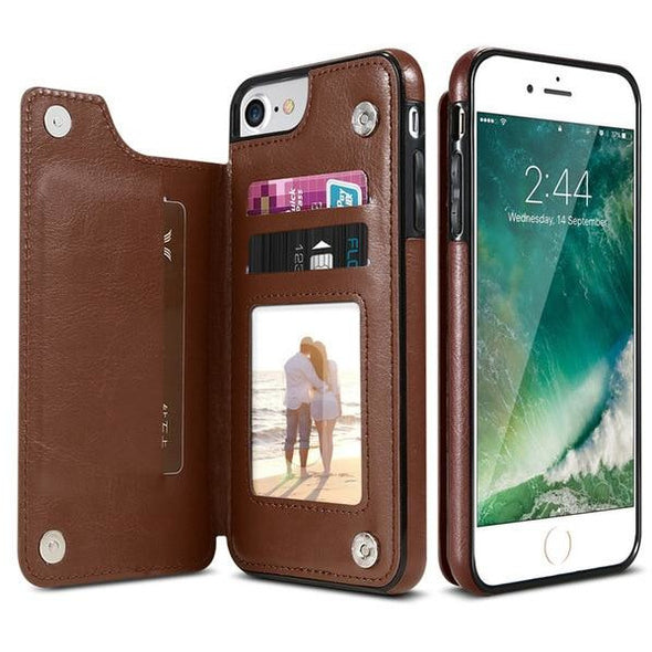 Multifunctional Leather iPhone Case Wallet - Novel Luxury - A men's accessory company