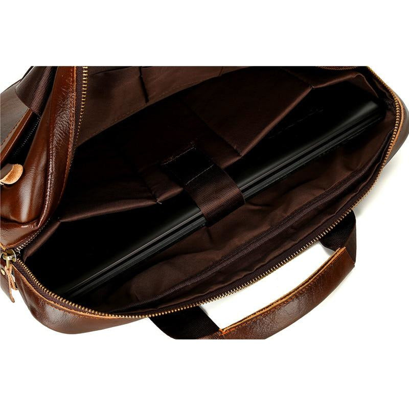 NL Genuine Leather Messenger Bag – 924 - Novel Luxury - A men's accessory company
