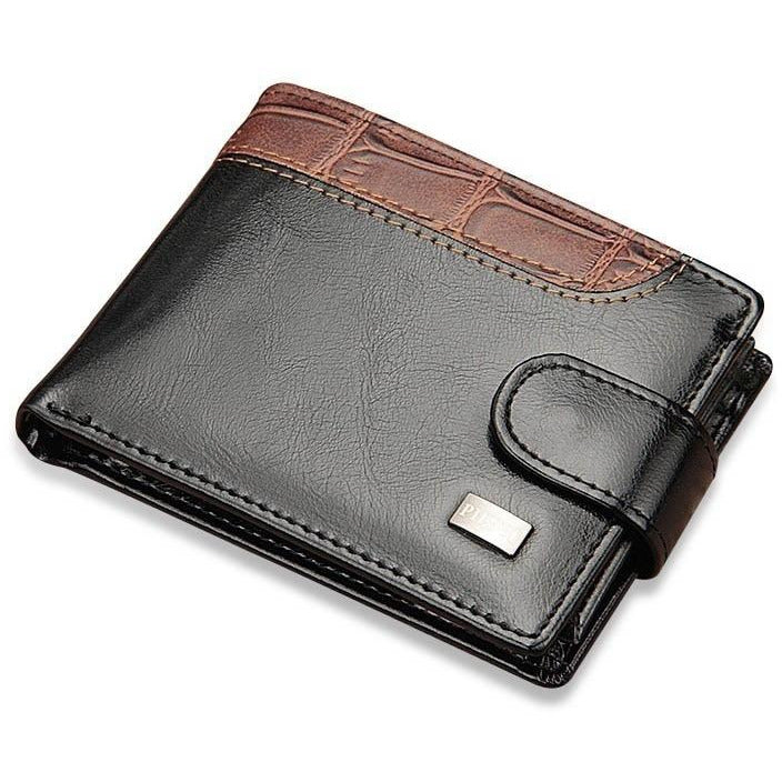 Vintage Leather Clasp Wallet - Novel Luxury - A men's accessory company
