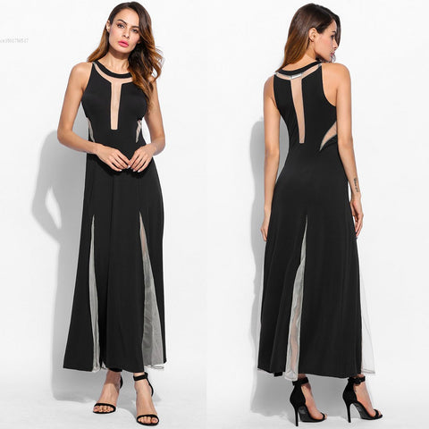 Summer Women Long Dress Sleeveless Sexy Slim Evening Mermaid Dress