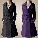 Women trench coat new fashion Atmospheric ladies Slim double-breasted trench coat