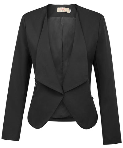 Women top Stylish Solid Color Trim  Office work jacket formal wedding party classic coat