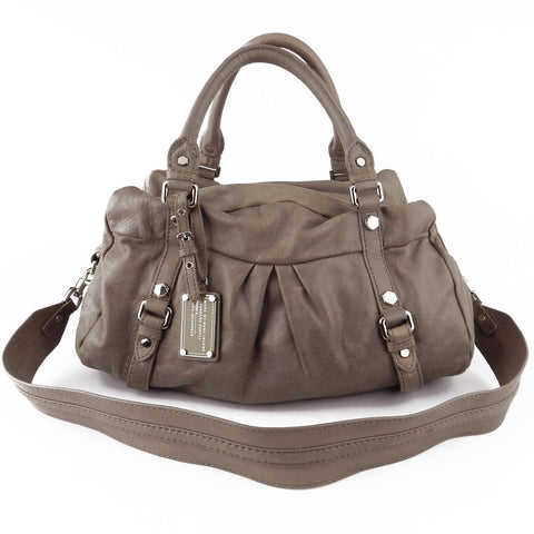 Marc by Marc Jacobs Taupe Grey Classic Q Groovee Satchel
