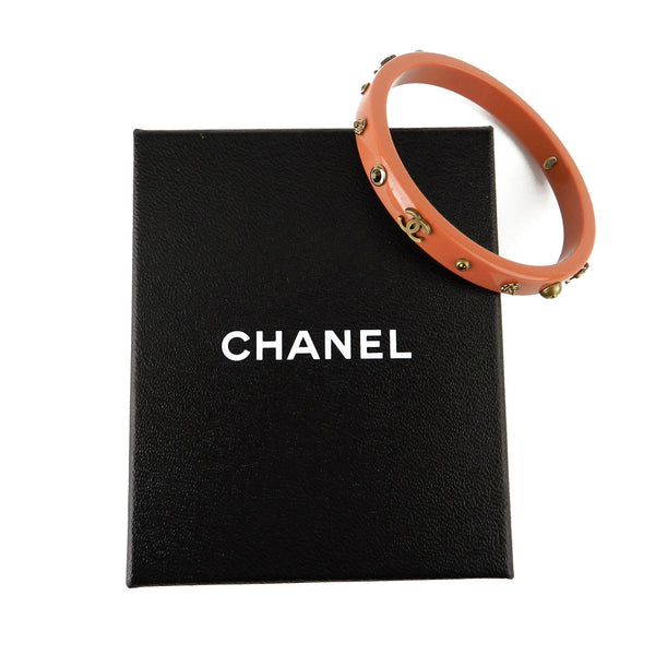 Chanel Dark Coral Resin Bangle