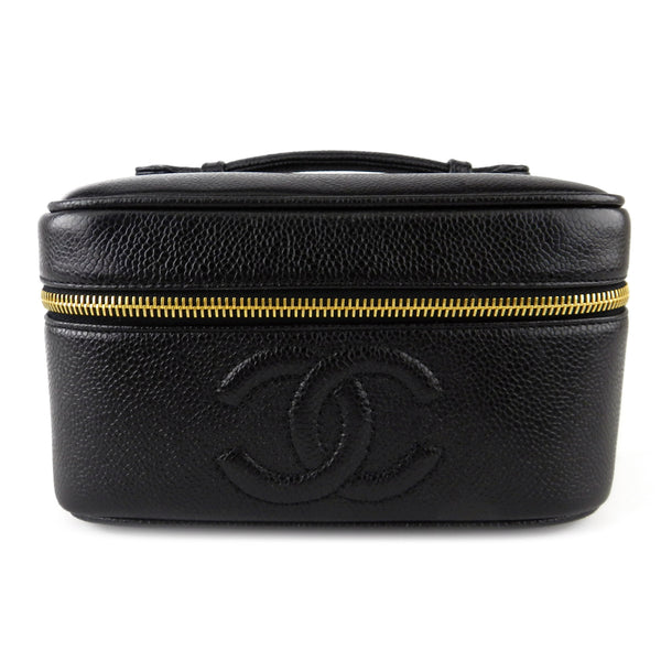 Chanel Black Caviar Vanity Case
