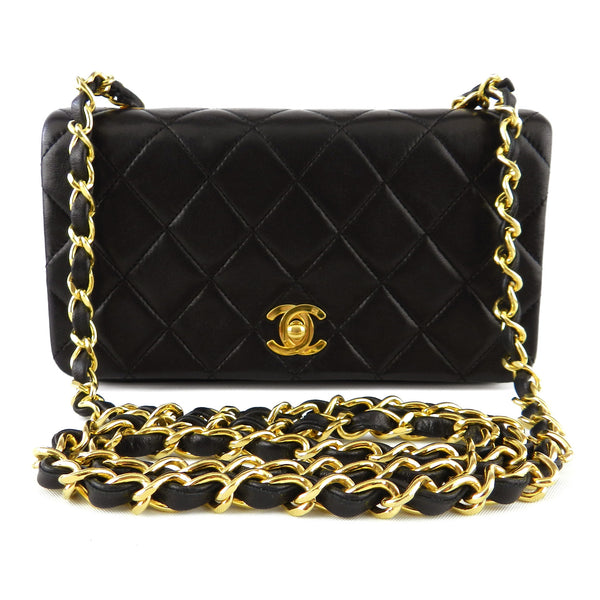 Chanel Small Quilted Lamb Long Chain Purse