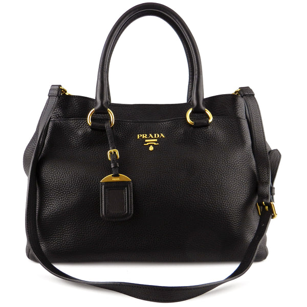 Prada Vitello Daino Two-Way Tote