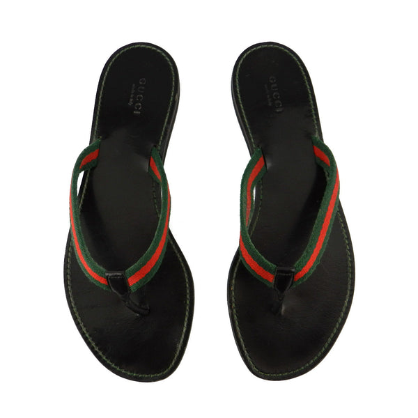 Gucci Stripes Thong Flip Flops sz 8