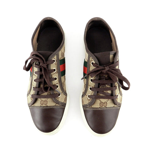 Gucci GG Canvas Classic Sneakers sz 37.5