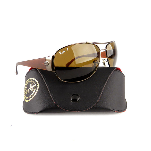 Ray-Ban Copper-Brown Aviator Sunglasses
