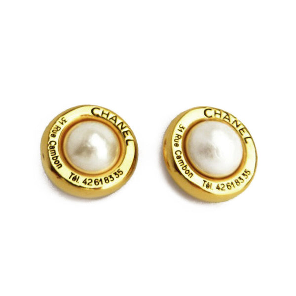 Chanel Rue Cambon Clip-On Pearl Earrings