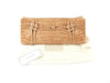 Nancy Gonzales Tan Knotted Crocodile Clutch