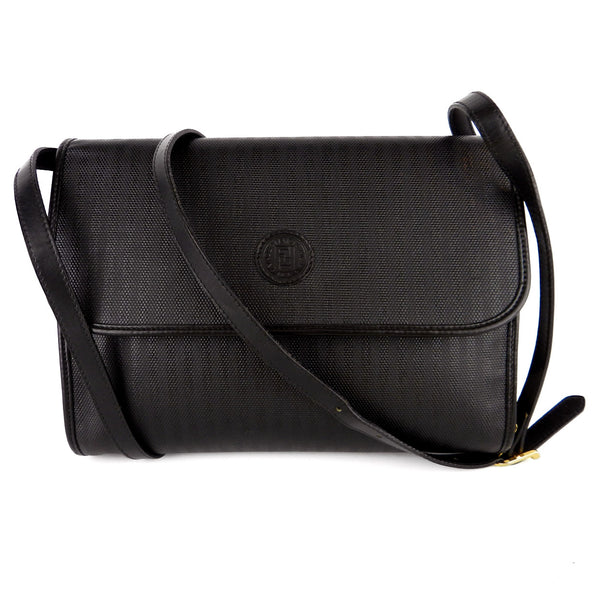 Fendi Vintage Coated Canvas Cross-Body Clutch