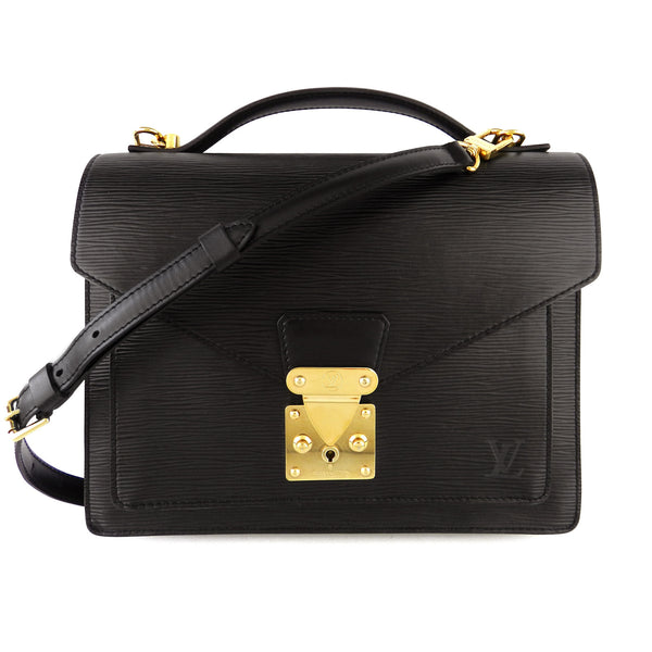 Louis Vuitton Black Epi Monceau MM