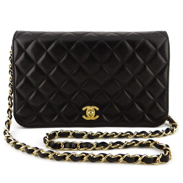 Chanel Full Flap Classic Quilted Lamb Chain Purse
