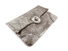 Alexander McQueen Silver Filigree Giant Envelope Clutch