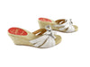 Christian Louboutin Silver Ribbon Wedge Espadilles sz 37 (6 US)
