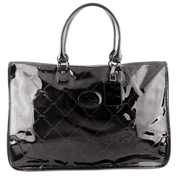 Longchamp LM Large Patent Leather Zip Tote
