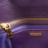 Miu Miu Madras Violet Textured Leather Satchel & Crossbody