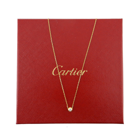 Cartier Spotlight 18K Yellow Gold & Diamond Necklace LM