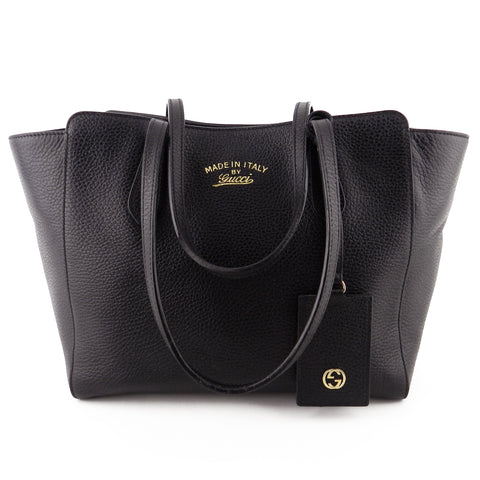 Gucci Small Pebbled Leather Swing Tote