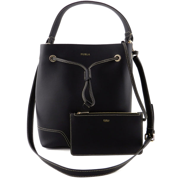 Furla Black Leather Tote & Crossbody