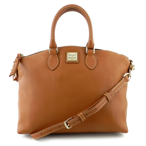 Dooney & Bourke Tan Leather Satchel & Crossbody