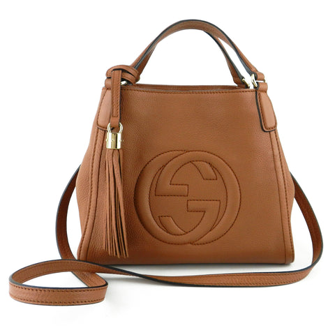 Gucci Soho Small Convertible Leather Satchel & Crossbody