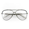 Gucci Oversized Aviator Metal Frame Glasses