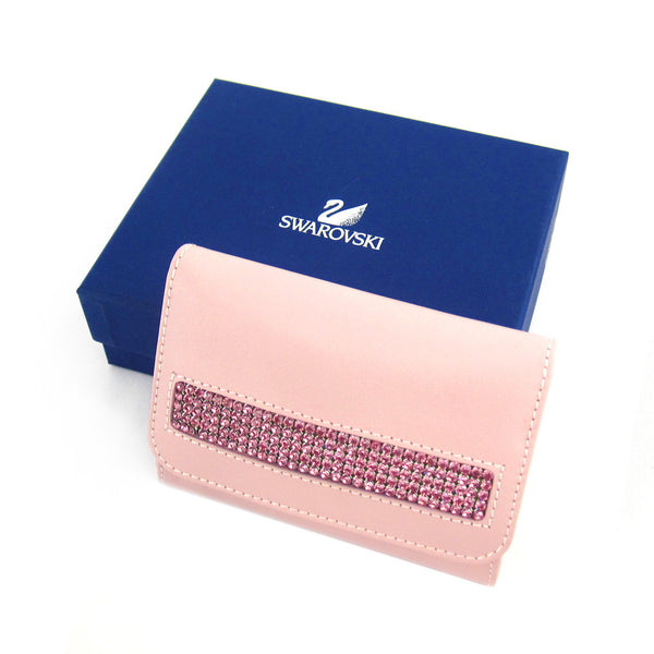 Swarovski Compact Card/Coin/Jewelry Case - Pink