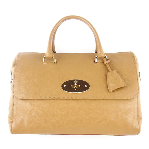 Mulberry Del Rey Leather Satchel - Tan