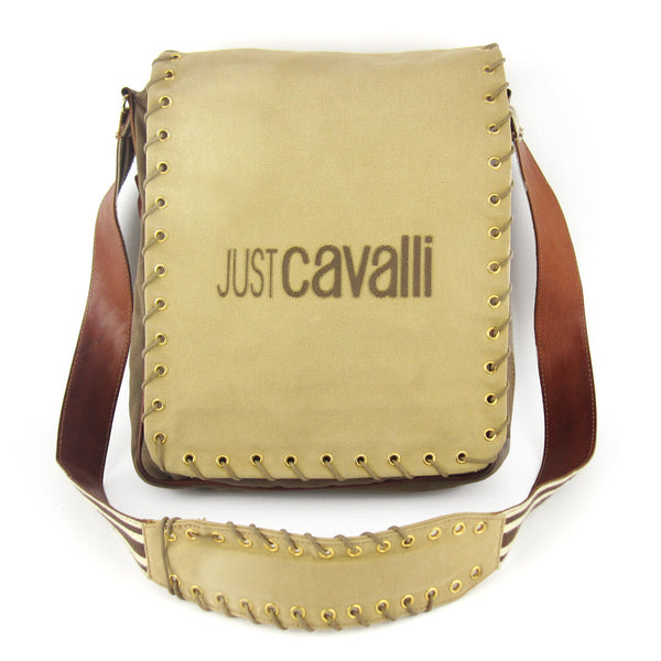 Just Cavalli Utilitarian Canvas Cross Body