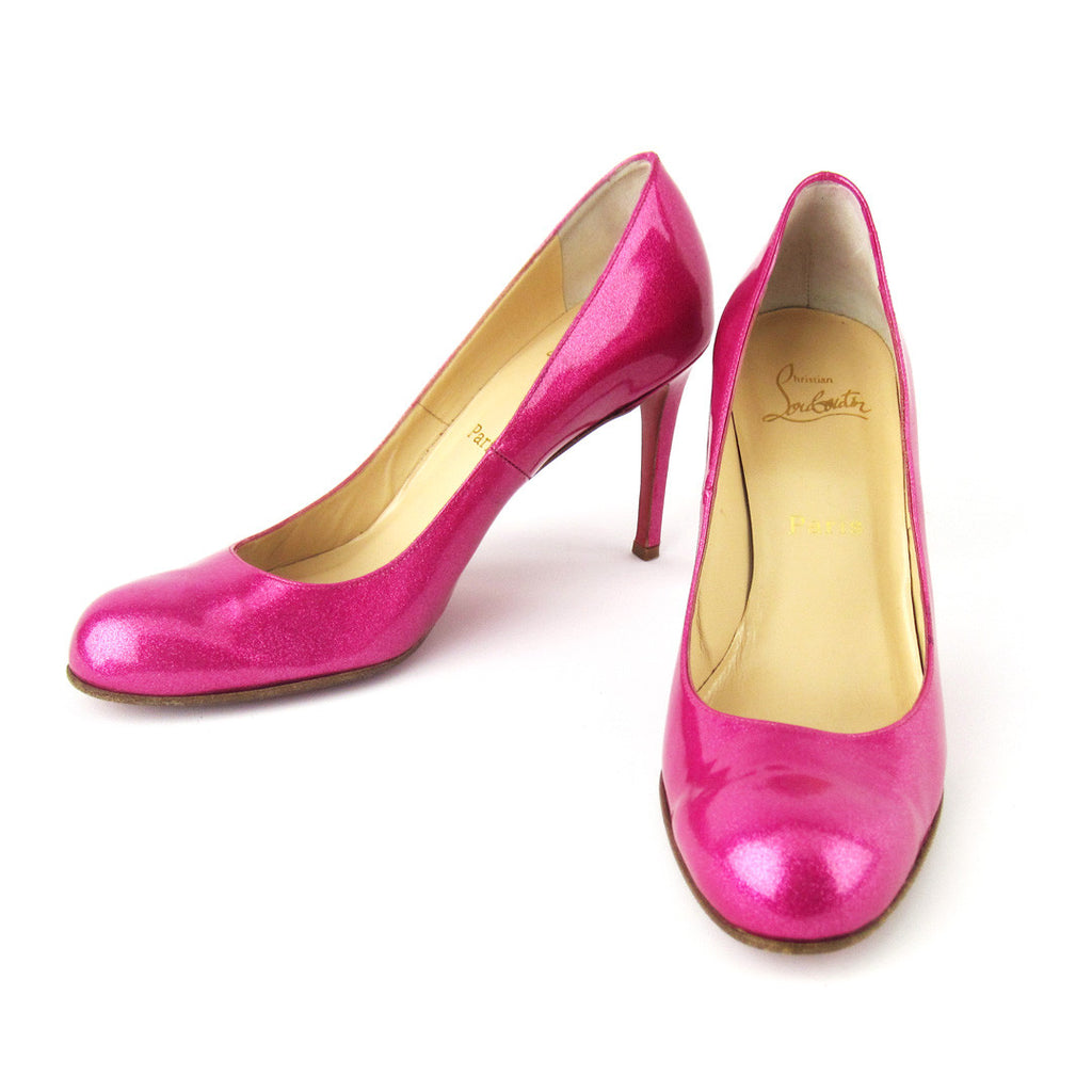 low priced 645cf 5a9d4 Christian Louboutin Candy Pink Glitter Pumps sz 39