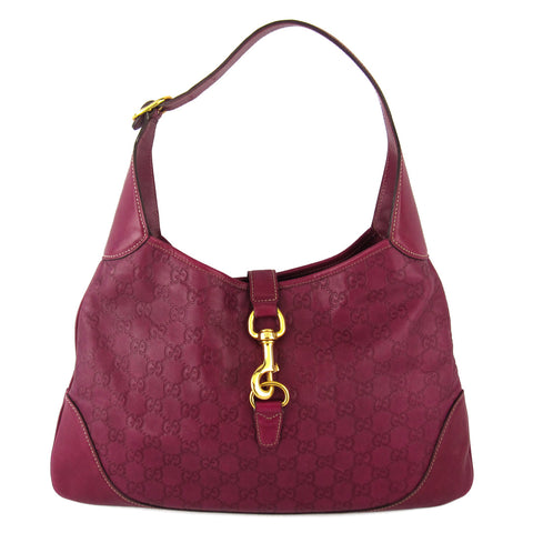 Gucci Guccissima Jackie Medium Leather Hobo
