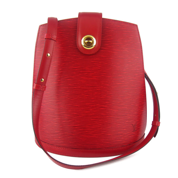Louis Vuitton Red Epi Cluny