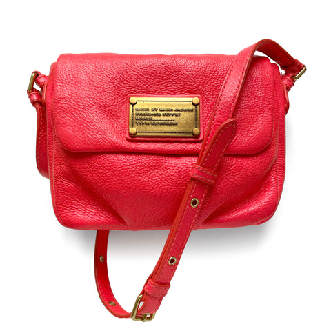 Marc by Marc Jacobs Hot Pink Leather Crossbody