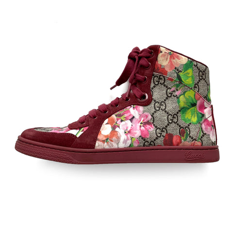 Gucci Special Edition GG Bloom High Top Sneakers sz 37 / 7