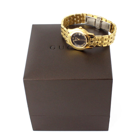 Gucci Gold Roman Numbers Ladies Watch
