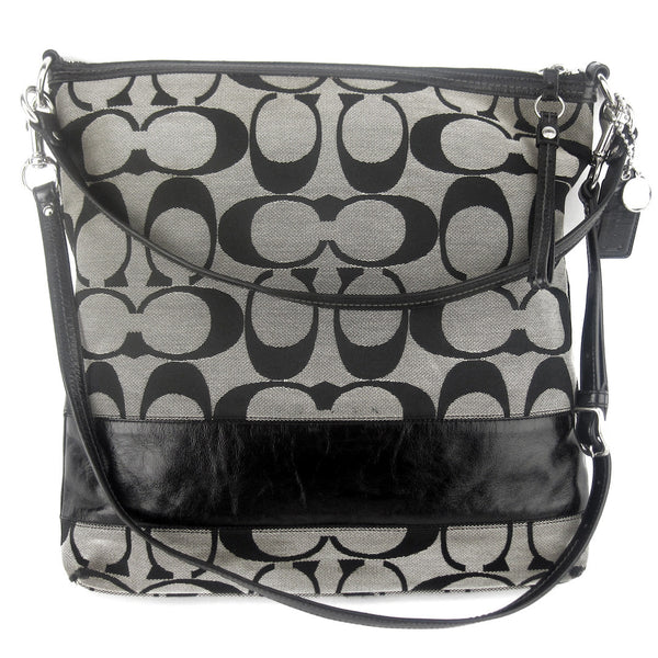Coach Large Two-Way Canvas Messenger - Black