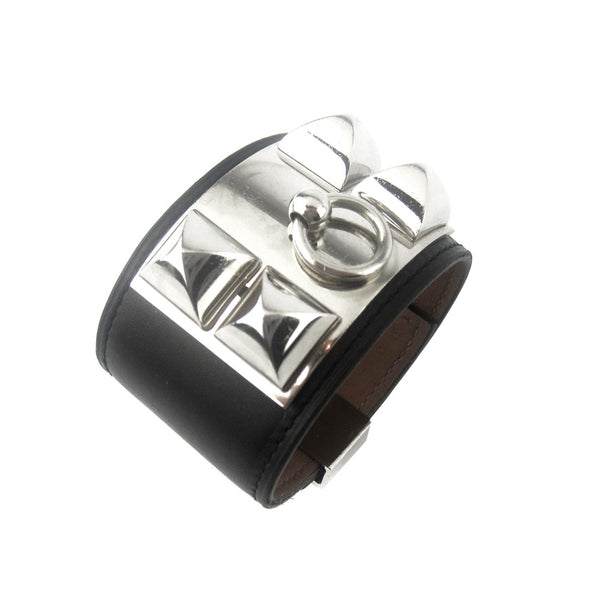 Hermes CDC Collier de Chien Cuff - Black/Silver