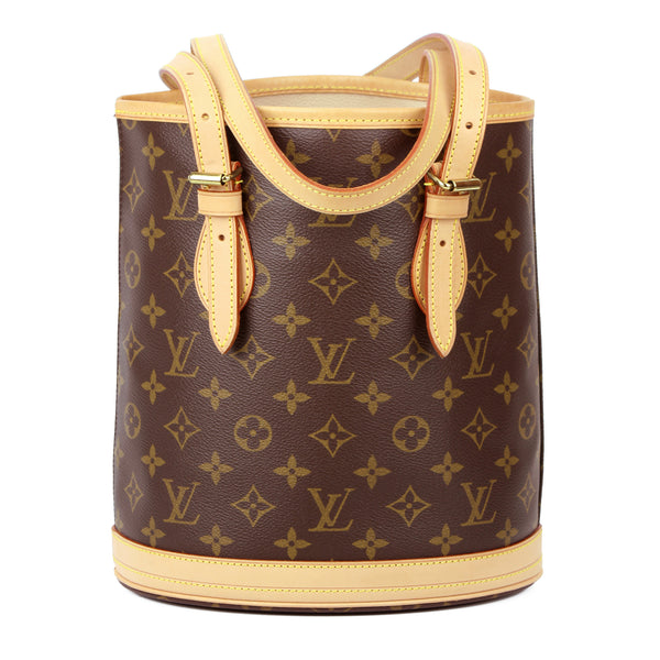Louis Vuitton Monogram Petit Bucket Shoulder Bag