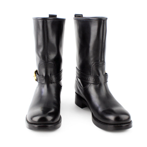 Louis Vuitton Black Leather Biker Calf Boots sz 36 / 6