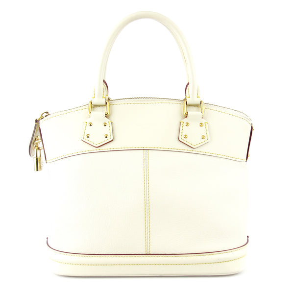 Louis Vuitton Lockit PM Satchel - Ivory Suhali Leather