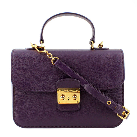 Miu Miu Madras Purple Satchel & Crossbody