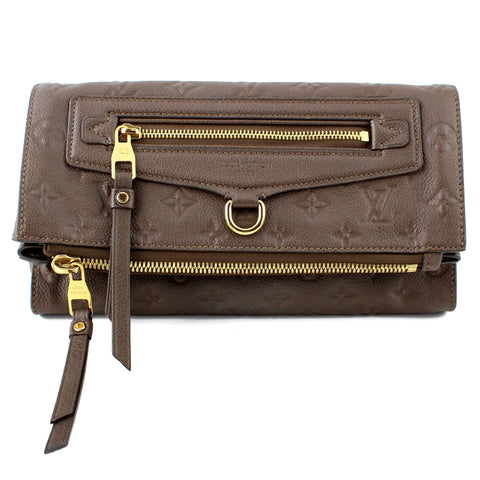 Louis Vuitton Monogram Empreinte Taupe Petillante Clutch