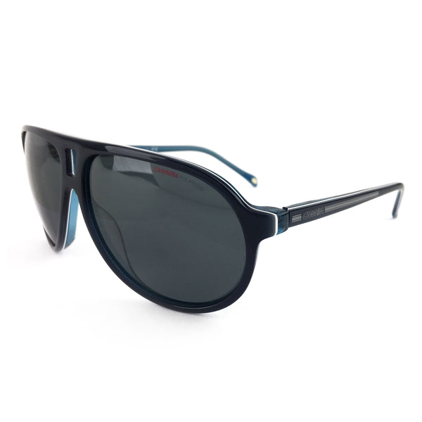 Carrera Teal Blue Flat Top Aviator Sunglasses