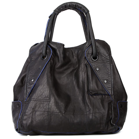 BCBG Maxazria Large Expandable Slouchy Leather Tote