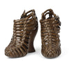 Bottega Veneta Woven Leather Wedge Sandal sz 39